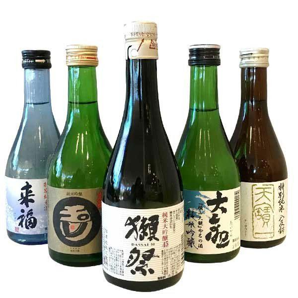 小野酒店「獺祭(だっさい)と人気地酒蔵飲み比べ300ml×5本セット」