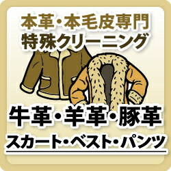 牛革・羊革・豚革/スカート/ベスト/パンツ/本革特殊品クリーニング