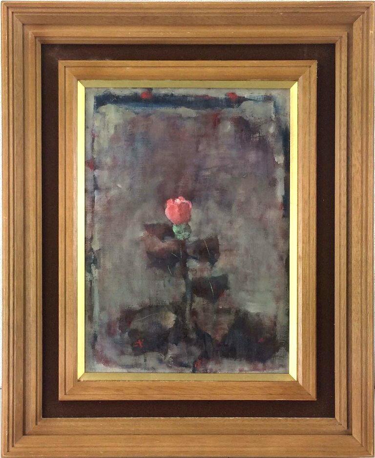 吉岡 一 「やぶ椿」 油彩4号:小野画廊