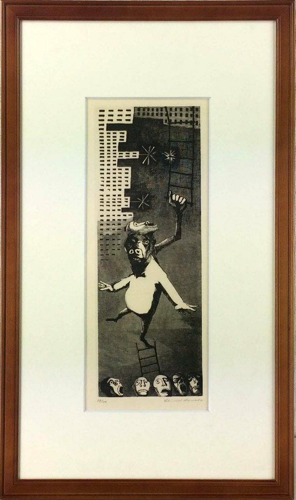 浜田知明 「地方名士」 銅版画:小野画廊