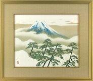 横山大観「松に富士」工芸画