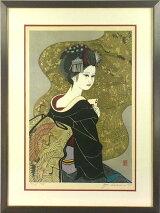 関野凖一郎「ハートのA」木版