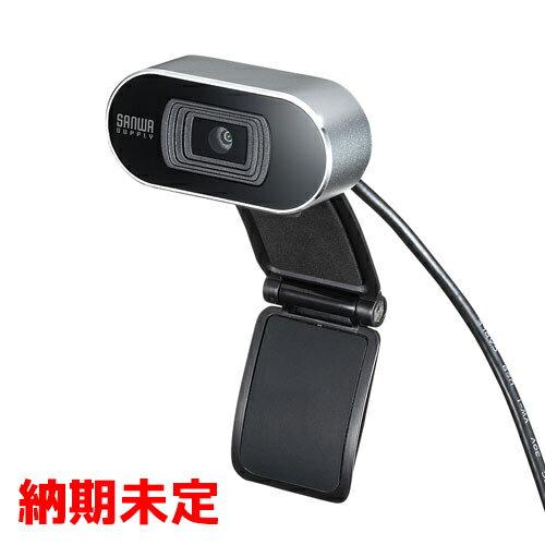 【サンワサプライ】CMS-V45S[CMSV45S]オートフォーカスWEBカメラピント自動調整シルバー【返品種別B】