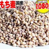 もち麦 国産 900g 送料無料 ダイシモチ もちむぎ 茶(赤紫)色 0.9kg ×1袋