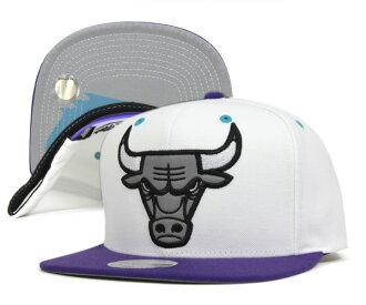 ミッチェルアンドネス Cap snap back Chicago Bulls grapes white hat MITCHELL NESS CAP NBA CHICAGO BULLS GRAPES SNAPBACK WHITE #CP: S