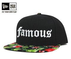フェイマス スターズ&ストラップス スナップバック キャップ ブラック 帽子 FAMOUS SNAPBACK CAP HANG LOOSE BLACK [ スナップバック キャップ サイズ調整 大きい サイズ メンズ レディース ][BK] #CP:S