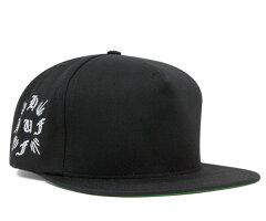 ハフ スナップバック キャップ クロス ブラック 帽子 HUF SNAPBACK CAP CROSS BLACK [ スナップバック キャップ サイズ調整 大きい サイズ メンズ レディース ][BK] #CP:S