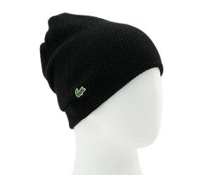 ★ラコステ ニット ワッチ キャップ ブラック LACOSTE KNIT CAP BLACK [ 帽子 ニットキャップ ...