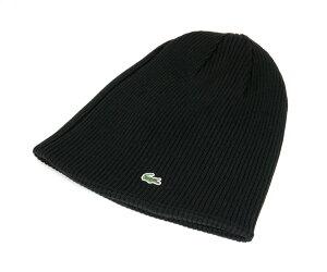 ★ラコステ ニット リバーシブルワッチ ブラック LACOSTE KNIT CAP BLACK [ 帽子 ニットキャッ...