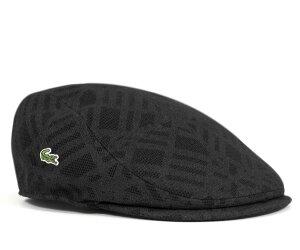 ★ラコステ メッシュプリント ハンチング ブラック LACOSTE HUNTING MESH PRINT BLACK [ 帽子 ...