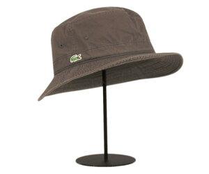 ★ラコステ ハット サハリ ツイル ブラウン LACOSTE HAT TWILL BROWN L3981 12000 [ ポークパイ...