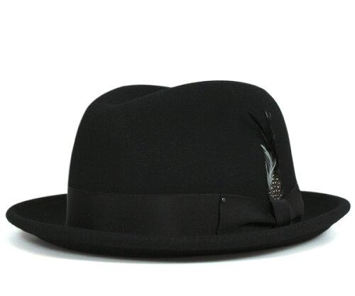 ベイリー(Bailey Hats)ハット チノ 中折れ フェルト ブラック 帽子 HAT TINO HAT BLACK メンズ[R...