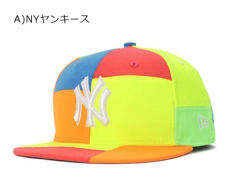 Los Angeles Dodgers Men/'s Cap Snapback Hat 9FIFTY MLB LA Neon Florescent New Era
