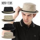 ポイント10倍 ニューヨークハット(NEW YORK HAT)ポークパイハット スティンジー キャンバス | COTTON STINGY | 全4色 帽子 メンズ レディース [RV]【UNI】