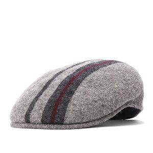 カンゴール ハンチング帽 504 IDENTITY STRIPE フランネル KANGOL ぼうし ブランド 秋冬 おしゃれ メンズ帽子 レディース帽子 グレー