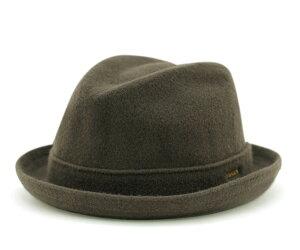 レビューで【送料無料】カンゴール ハット ウールプレーヤー ブラック ローデン (帽子) KANGOL...