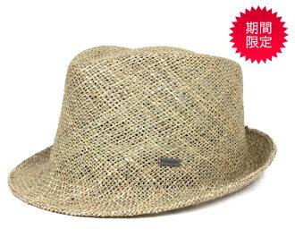 卡瓦列羅頭戴呢帽欽海草天然草帽 CABALLERO 色的氊帽帽子欽瓊海草自然 [大小男裝大草帽稻草秸稈帽子草帽草帽草編帽子],[GN] #HA: S