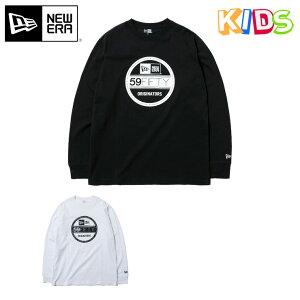 ニューエラ キッズ Tシャツ 長袖 VISOR STICKER NEW ERA YOUTH new era kids ブランド おしゃれ ストリート ロンT 長袖Tシャツ 長そで newera KIDS 子供 子供用 こども