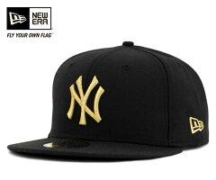 ニューエラ キャップ ニューヨーク ヤンキース ブラック 帽子 NEWERA 59FIFTY NEW YORK YANKEES BLACK [ 帽子 new era cap 大きい サイズ メンズ レディース ] 送料無料 【R】[BK] #CP:B