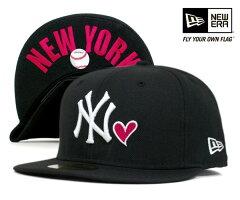 ★ニューエラ キャップ ニューヨーク ヤンキース ハート アンダーバイザー ロゴ ブラック 帽子 ...
