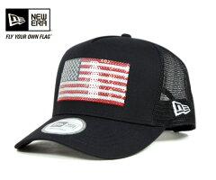 【その他】ニューエラ メッシュ キャップ トラッカー フラッグ アメリカ ネイビー 帽子 NEWERA D-FRAME TRUCKER NATIONAL FLAG AMERICA NAVY [ キャップ new era cap ニューエラキャップ 大きい サイズ メンズ レディース ][NV] #CP:M