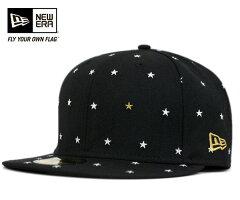 オンスポッツ別注 ニューエラ キャップ スタードット ブラック 帽子 ONSPOTZ ORIGINAL NEWERA 59FIFTY STAR DOTS BLACK [ キャップ new era cap 大きい サイズ メンズ レディース ][BK] #CP:B #LC