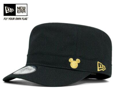 ニューエラ×ディズニー ミリタリー ワーク キャップ ミッキー ブラック 帽子 NEWERA×DISNEY WM-01 MICKEY BLACK [ DISNEY ミッキーマウス MICKEY MOUSE ワーク ミリタリー キャップ work cap 大きい サイズ メンズ レディース ][BK] #CP:W