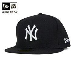 [ 送料無料 ] ニューエラ キャップ ニューヨーク ヤンキース ブラック 帽子 NEWERA 59FIFTY CAP NEW YORK YANKEES BLACK [ キャップ new era cap ニューエラキャップ NY MLB メジャーリーグ 大きい サイズ メンズ レディース ][BK] #CP:B 【R】 【UN-】