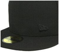 [送料無料]ニューエラキャップフラッグフローレスブラック帽子NEWERA59FIFTYCAPNEWERABLACK[BK]#CP:B【R】