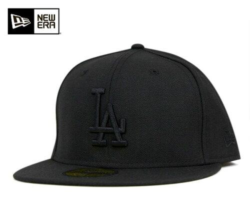 NEW ERA(ニューエラ) 59FIFTY キャップ MLB ロサンゼルス ドジャース ブラック ブラック 1130863...