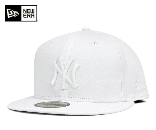 NEW ERA(ニューエラ) 59FIFTY キャップ MLB ニューヨークヤンキース ホワイト ホワイト m01-mctn...