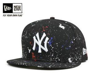 ニューエラ キャップ ニューヨーク ヤンキース スプラッシュ プリント ブラック 帽子 NEW…