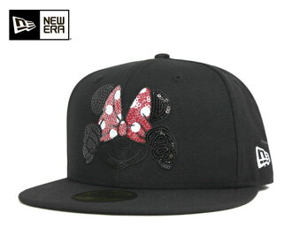 新埃拉×迪士尼蓋子尋找的印度明妮黑色帽子New Era×DISNEY 59FIFTY CAP DISNEY SEQUINED MINNIE BLACK[新埃拉蓋子帽子New Era CAP人][BK]#CP:B