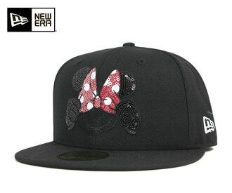 新埃拉×迪士尼蓋子尋找的印度明妮黑色帽子New Era×DISNEY 59FIFTY CAP DISNEY SEQUINED MINNIE BLACK[新埃拉蓋子帽子New Era CAP人][BK]#CP:B