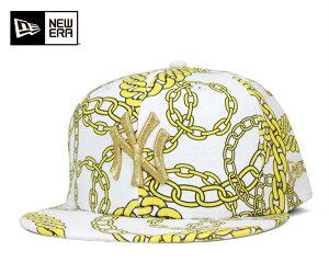 ニューエラ キャップ ニューヨーク ヤンキース ゴールド チェイン ホワイト 帽子 NEWERA 59FIFTY CAP NEW YORK YANKEES GOLD CHAIN WHITE [ ニューエラ キャップ ヤンキース 帽子 NEW ERA CAP メンズ ][WH] #CP:B