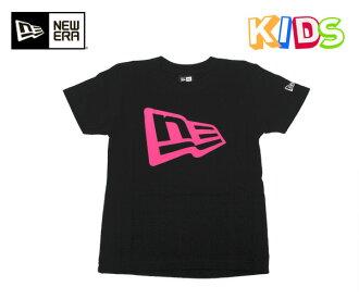 新時代兒童 t 恤國旗標誌黑色紐埃爾孩子 t 恤國旗標誌黑色 #KD 新時代孩子紐埃爾孩子新時代帽,[BK]