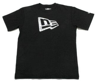 新時代 t 恤棕櫚樹旗標誌黑色紐埃爾 t 恤棕櫚樹旗標誌黑色 [新 T 襯衫男式短袖服裝新時代] 和 [BK] #AP: TS