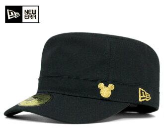 新時代 x 迪士尼軍事工作帽米奇黑帽子紐埃爾 WM-01 #CP [新時代帽新時代帽新時代帽新時代合作新時代帽子帽新時代合作新時代新時代男式] 和 [BK]: W