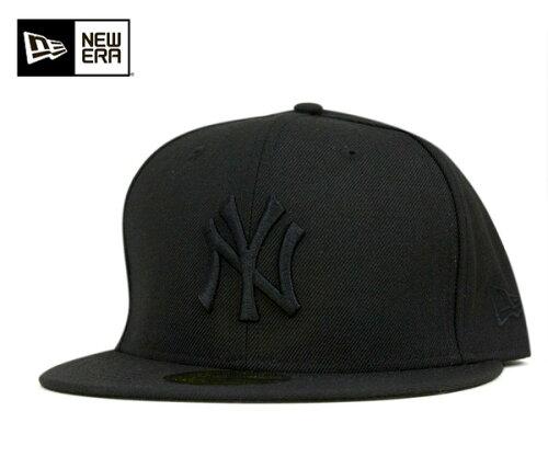 NEW ERA(ニューエラ) 59FIFTY キャップ MLB ニューヨークヤンキース ブラック ブラック 11308579...