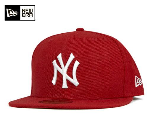 NEW ERA(ニューエラ) 59FIFTY キャップ MLB ニューヨークヤンキース スカーレット m01-mctny 113...