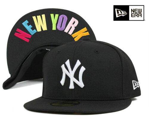 NEW ERA(ニューエラ) 59FIFTY キャップ MLB ニューヨークヤンキース アンダーバイザー NY ブラッ...
