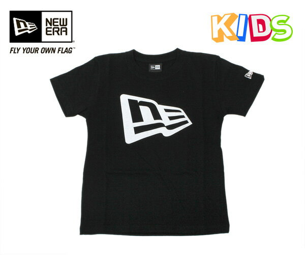 ニューエラ キッズ フラッグロゴ Tシャツ ブラック