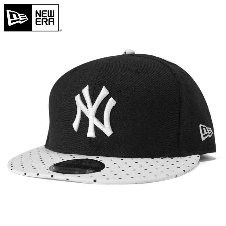 ニューエラ NEW ERA 9FIFTY スナップバックキャップ ポルカドット MLB ニューヨークヤンキース ブラック 帽子 メンズ レディース