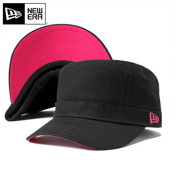 ニューエラ WM-01 ワークキャップ アンダーバイザーカラーカスタム ブラック/ピンク