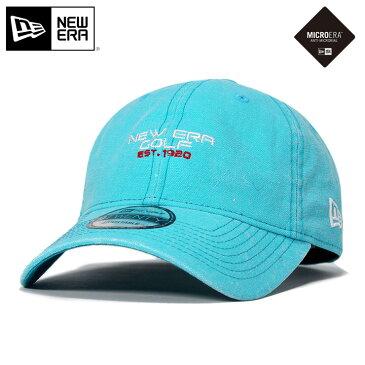 ニューエラ ゴルフ キャップ サイズ調整 9TWENTY ダックキャンバス イタリアンウォッシュ NEG1920 マイクロエラ ブルー NEW ERA GOLF