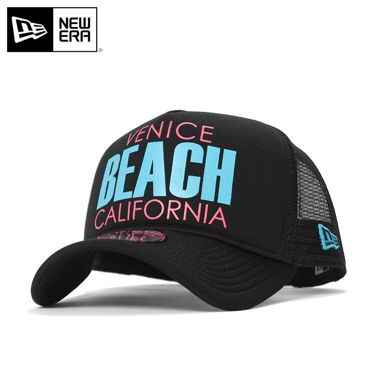 6ebb40bf84aac2 ニューエラ メッシュキャップ 9FORTY Aフレーム ベニスビーチ カリフォルニア ブラック NEW ERA 帽子 ぼうし メンズ帽子