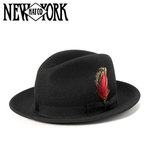 ニューヨークハット(NEW YORK HAT)フェドラハット ブラック | FEDORA HAT BLACK | 帽子 メンズ ...