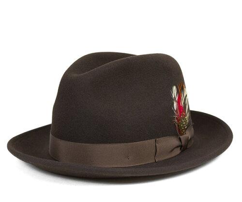 ニューヨークハット(NEW YORK HAT)フェドラハット ブラウン | FEDORA HAT BROWN | 帽子 メンズ ...