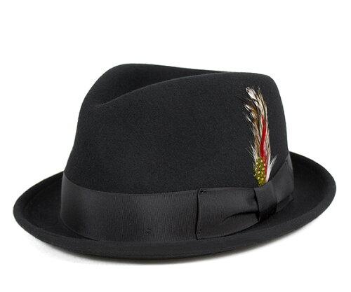 ニューヨークハット(NEW YORK HAT)フェドラハット ティア ドロップ スティンジー ブラック 帽子 ...