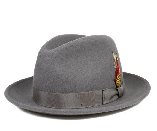 ニューヨークハット(NEW YORK HAT)フェドラハット グレー | FEDORA HAT GREY | 帽子 メンズ レデ...